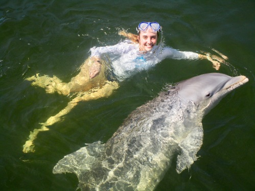 Liz Goetzl at Island Dolphin Care