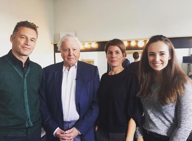 Megan and Sir David Attenborough